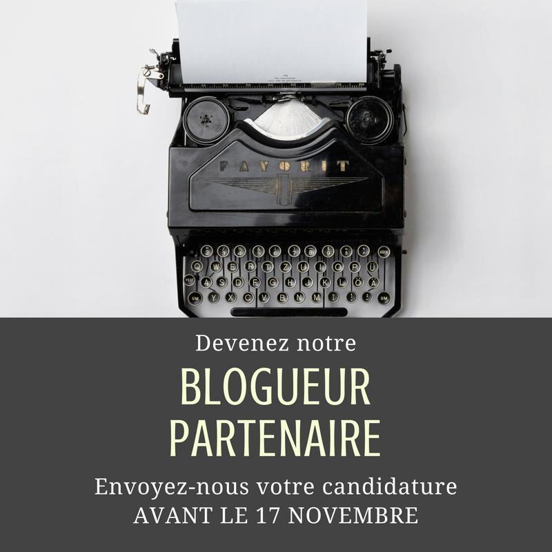 Image de l'article «Devenez nos blogueurs partenaires 2018!»